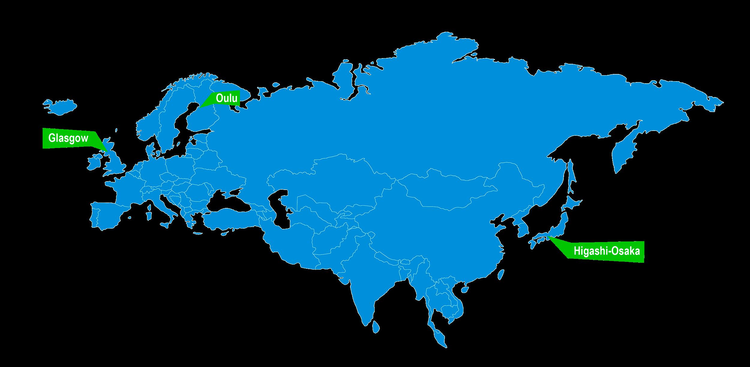 Twinning kartta